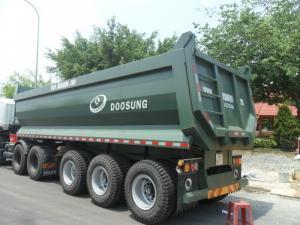 Xe sơ mi rơ moóc thùng tự đổ (moóc ben) Loại rơ moóc RơMoóc Ben Xuất xứ:  Nhập khẩu Hàn Quốc lắp Ráp tại VN Trọng lượng bản thân : 8130kG Tải trọng cho phép chở : 28800kG