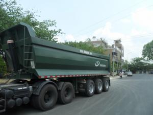 Xe Sơ mi Rơ Moóc thùng tự đổ 24 khối, giá rẻ cạnh tranh 635 triệu