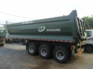 Sơ mi rơ mooc ben Rơ mooc tải tự đổ 3 trục tải trọng 29 tấn Doosung