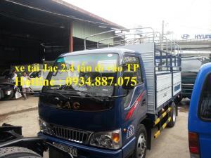 Bán xe tải Jac 2.4 tấn/jac 2.4 tấn/JAC 2.4 tấn (2t4) thùng dài 3.75 mét đi được vào thành phố