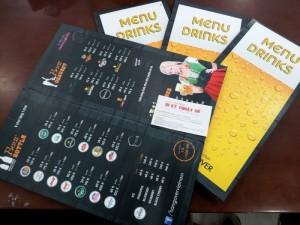Menu Drinks cho quán beer, quán ăn, quán bar | In Thực Đơn với sự chủ động máy in cùng đội ngũ nhân viên gia công nhiều năm kinh nghiệm, gia công menu thực đơn đẹp và gọn