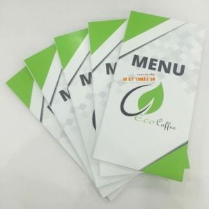 In menu bìa cứng từ PP cán format | Bìa cứng là lớp format được dán bồi, mặt ngoài là PP in sắc nét in ấn công nghệ in phun kỹ thuật số | Độ dày của format tùy sự lựa chọn của bạn: 2 ly, 3 ly, 5 ly, 10 ly,...