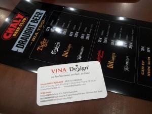 In menu bìa cứng cho quán beer, quán bar, quán cafe, quán ăn tại TPHCM