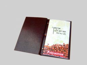 Menu nhà hàng bìa da, kẹp bill, in menu nhà hàng khách sạn, thiết kế in menu làm bìa da, chất lượng cao ở tại TPHCM | Ruột menu in giấy cao cấp, cán màng tránh dính nước