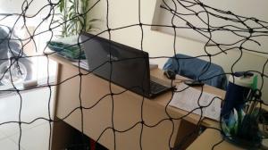 Cung cấp lưới bóng đá nhựa bền 4 năm, lưới rào sân banh mắt 12cm trên toàn quốc