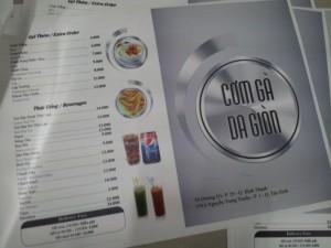 In menu cho quán cơm, in thực đơn cho quán cơm