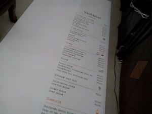 Gia công tấm lớn PP cán format làm menu, thực đơn áp tường cho quán xôi chè tại TPHCM