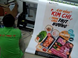 In thực đơn món ăn Hàn Quốc đặc sắc tại In Thực Đơn | Loại hình in: in thực đơn dạng poster treo phía  ngoài cửa hàng, PP mực nước