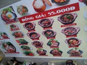 In thực đơn menu món ăn ngon, in khổ lớn dạng menu áp tường | Loại hình in: PP cán format