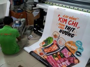 In Thực Đơn nhận in menu cho quán ăn Hàn Quốc tại TPHCM | Loại hình in: PP cán format, PP làm poster đặt phía ngoài quán ăn, nhà hàng
