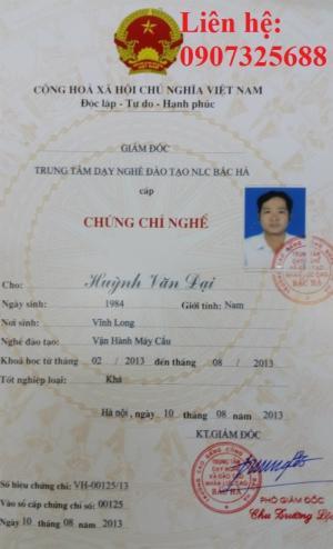 Học nhanh chứng chỉ máy cẩu tại Bắc Ninh -  khóa học sơ cấp nghề 03 tháng