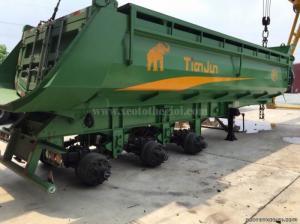 Sơmi rơ mooc sàn 40 feet 3 trục tải trọng cao nhãn hiệu Tianjun - SƠ MI RƠ MOOC BEN SỐ 1