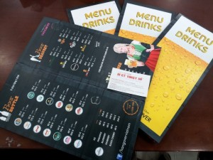 In menu cho quán nhậu, in thực đơn cho quán nhậu