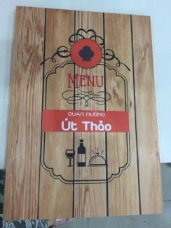 In menu cho quán nướng Út Thảo tại TPHCM - thực hiện in bởi In Thực Đơn