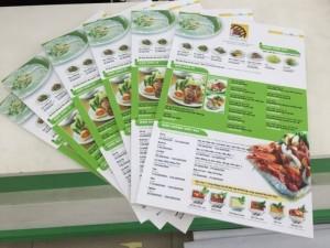 In menu dạng tấm cho quán nhậu hải sản tại TPHCM