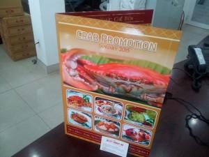 In menu cho quán nhậu, nhà hàng hải sản chuyên món cua tại TPHCM