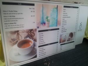 In menu cho quán kem, in thực đơn cho quán kem