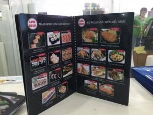 In menu cho quán sushi, in thực đơn cho quán...