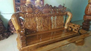 Bộ bàn ghế gỗ tạp
