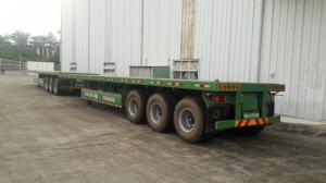 Mooc sàn Doosung 32 tấn 40 feet chở Container 3 trục rút, mẫu mới rẻ bền đẹp