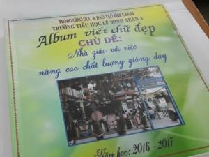 Nhận đặt làm Album viết chữ đẹp cho trường Tiểu học
