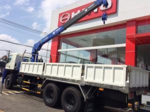 Xe tải Hino 14 tấn, gắn cẩu TADANO 5 tấn 4 khúc
