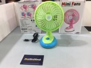 Quạt sạc điện Mini Fan Sử dụng pin sạc