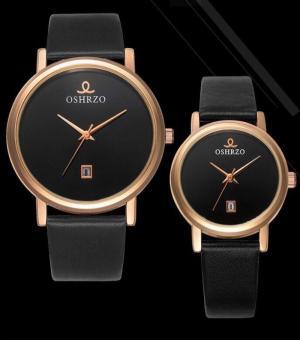 Đồng hồ đen và nâu