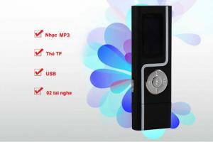 Máy nghe nhạc MP3 USB 2.0 đen - tặng thẻ 8Gb