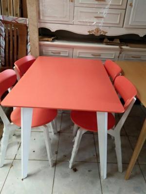 Bộ bàn ăn gỗ sơn màu - GIÁ TỐT