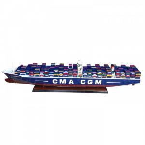 Mô Hình Tàu Container CMA CGM 102cm (Gỗ Tự Nhiên)