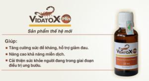 Vidatox Plus Giải pháp hỗ trợ điều trị ung thư vượt trội
