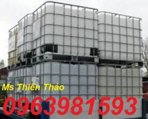 Tank nhựa 1000l, tank đựng hóa chất, bồn đựng hóa chất có sắt bao quanh