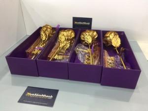 Hoa Hồng 3D mạ vàng LOVE - Món quà tặng độc...