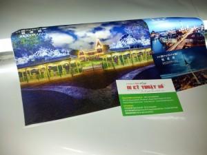 In UV silk | thành phẩm in UV silk tranh treo tường, cho hiệu ứng rực rỡ khi sử dụng kết hợp với đèn chiếu mặt sau | In UV silk chuyên dụng cho in tranh trang trí tường, sảnh khách sạn, nhà hàng, công ty du lịch, phòng khách sang trọng
