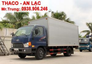 Xe tải Huyndai Thaco HD650 thùng kín, tải trọng 6t4
