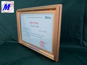 Bán Khung giấy khen nhựa bốn góc bông  khung bằng khen nhựa đài loan