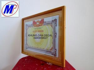 Bán Khung giấy khen gỗ dán decal  khung