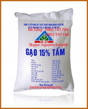 Bao bì pp dệt đựng gạo 50kg cao cấp ghép màng BOPP in ống đồng