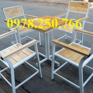 Bàn ghế gỗ cà phê, nhà hàng, quán ăn hàng mới 100%