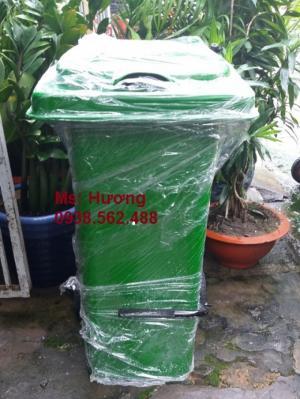 Thùng rác 120 lít có đạp chân
