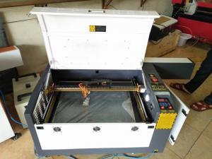 Máy laser 6040, máy laser cắt cao su, cắt vải.