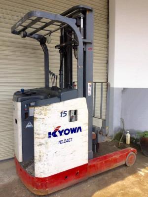 XE NÂNG ĐIỆN ĐỨNG LÁI NICHIYU Model: FBRMA15 - Tải trọng: 1500kg - Chiều cao nâng cao nhất: 4000m - Kích thước càng : 1100mm - Tình trạng sử dụng: cũ - Xuất xứ: Nhật bản