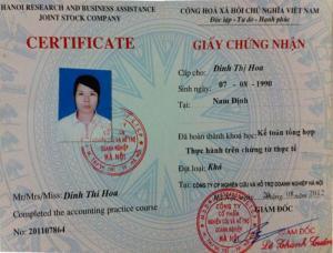 Đào Tạo Cấp Chứng Chỉ Kế Toán Tổng Hợp Tại  Hà Nội Và Toàn Quốc