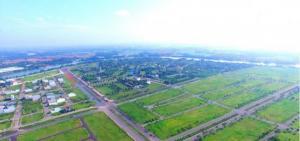 Khu Đô Thị mới ven sông, CSHT 100%, cố sổ, XD ngay, đường nhựa 50m