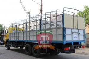 Bán xe dongfeng 3 chân 15 tấn thùng mui bạt nhập khẩu nguyên con trả góp