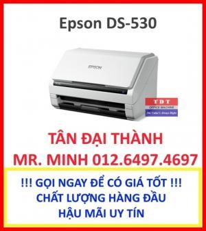 Máy scan Epson DS 530 mới, scan màu 2 mặt cực nét, giá cực tốt!