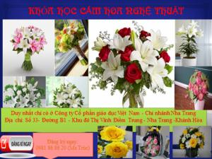 Dạy cắm hoa nghệ thuật Nha Trang