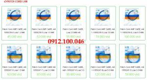 Phân phối sỉ lẻ Patch cord lan cat5e amp, patch cord lan cat6e đúc sẵn giá rẻ nhất