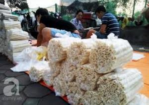 Xe nổ bỏng gạo chạy dầu, máy làm bánh ống tại Hà Nội